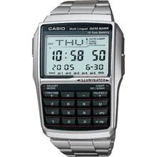 Relógio Casio Data Bank Masculino Prata DBC-32D-1ADF