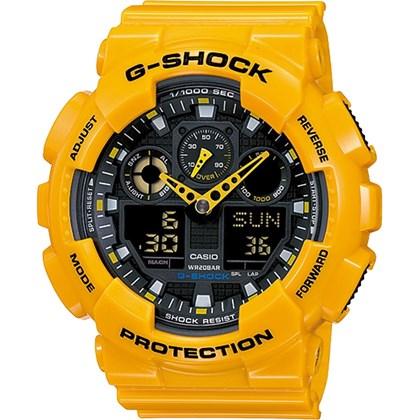 ccb8edc7b9b Relógio Casio G Shock Masculino Amarelo GA 100A 9ADR My Time