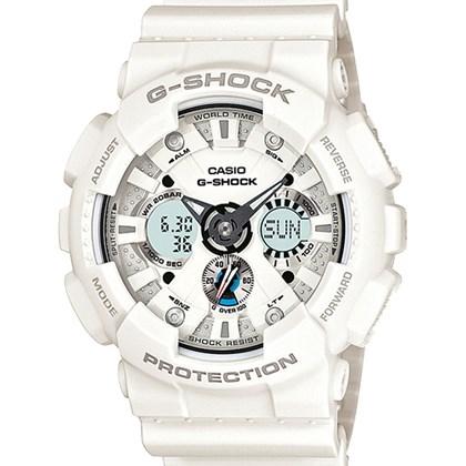 0bcf92152ff Relógio Casio G-Shock Masculino Branco GA-120A-7ADR - My Time