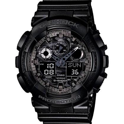 bf925eba8c8 Relógio Casio G-Shock Masculino Preto Camuflado GA-100C-1ADR - My Time