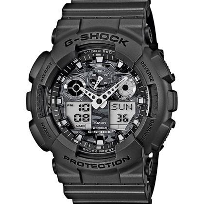 b15deb09b1a Relógio Casio G-Shock Masculino Preto Camuflado GA-100CF-8ADR - My Time