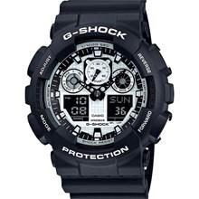 Relógio Casio G-Shock Masculino Preto Prata GA-100BW-1ADR