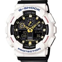 Relógio Casio G-Shock Preto Branco GA-100CS-7ADR