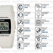 Relógio Casio Illuminator Masculino Branco W-215H-7AVDF