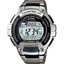 Relógio Casio Tough Solar Masculino Prata W-S220D-1AVDF