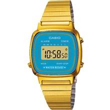 Relógio Casio Vintage Dourado Feminino Azul LA670WGA-2DF