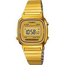 Relógio Casio Vintage Dourado Feminino Marrom LA670WGA-9DF