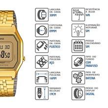 Relógio Casio Vintage Feminino Dourado Marrom LA680WGA-9DF