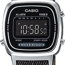 Relógio Casio Vintage Feminino Jeans Preto LA670WL-1BDF