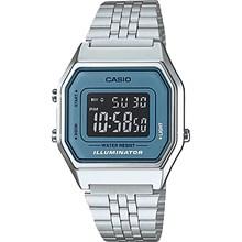 Relógio Casio Vintage Feminino Prata Cinza LA680WA-2BDF