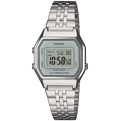 0bd8c9ab0dc Relógio Casio Vintage Feminino Prata Cinza LA680WA-7DF - My Time