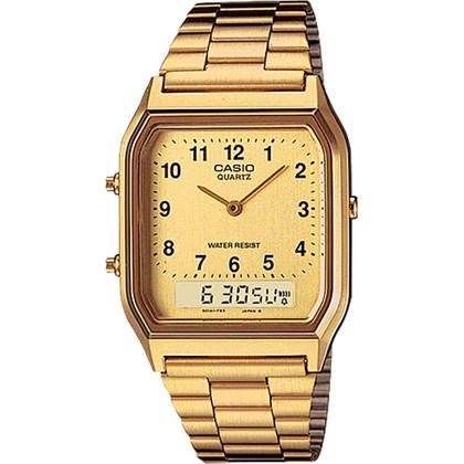 a38eaef6fe1 Relógio Casio Vintage Masculino AQ-230GA-9BMQ - My Time