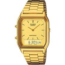 Relógio Casio Vintage Masculino Dourado AQ-230GA-9DMQ