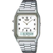 Relógio Casio Vintage Masculino Prata AQ-230A-7BMQ