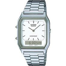 Relógio Casio Vintage Masculino Prata AQ-230A-7DMQ