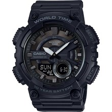 Relógio Casio World Time Masculino AEQ-110W-1BVDF