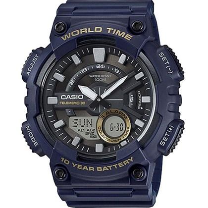 Relógio Casio World Time Masculino AEQ-110W-2AVDF