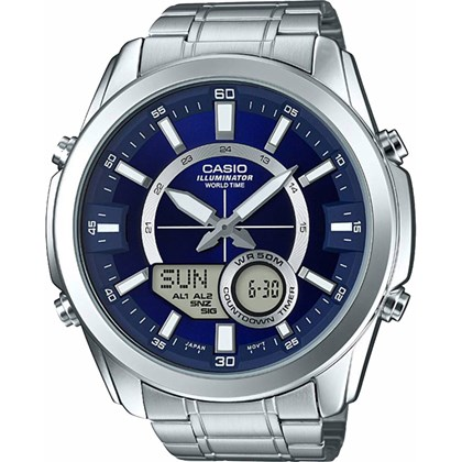 41b42651c1c Relógio Casio World Time Masculino AMW-810D-2AVDF - My Time