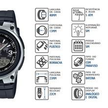Relógio Casio World Time Masculino AW-80-1A2VDF