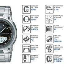 Relógio Casio World Time Masculino AW-80D-1AVDF