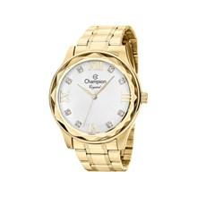 Relógio Champion Crystal Feminino Dourado Prata CN27465H