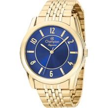 Relógio Champion Elegance Feminino Dourado Azul CN26233A