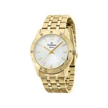 Relógio Champion Elegance Feminino Dourado Branco CN27349H