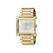 Relógio Champion Passion Feminino Quadrado Dourado Branco CH24562H
