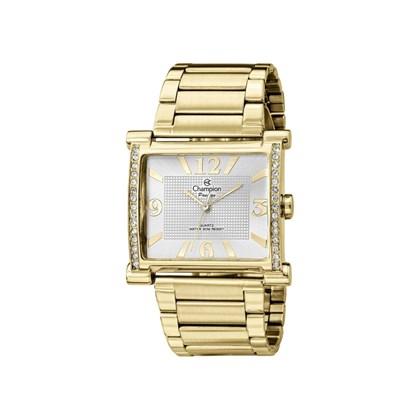 a681600dee1 Relógio Champion Passion Feminino Quadrado Dourado Branco CH24562H ...
