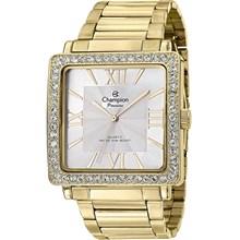 Relógio Champion Passion Feminino Quadrado Dourado Branco CH24713H