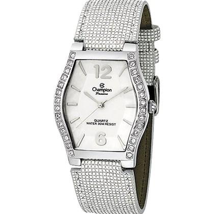 0da6b287679 Relógio Champion Passion Feminino Quadrado Prata Branco CA28949S ...