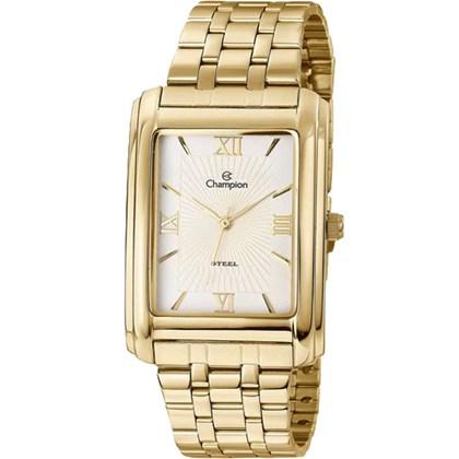 69c91f21677 Relógio Champion Steel Feminino Quadrado Dourado Branco CA21357H ...