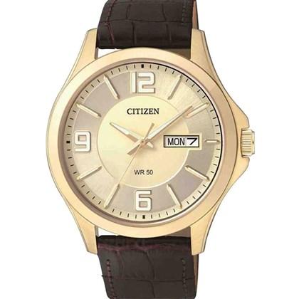 8a41b58eb95 Relógio Citizen Classic Masculino Dourado Marrom BF2003-09P - My Time