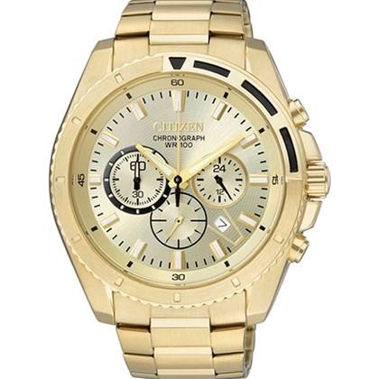 a47e700918c Relógio Citizen Masculino Cronógrafo Dourado AN7012-50P - My Time