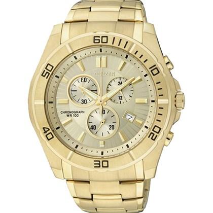 3bceab670ed Relógio Citizen Masculino Cronógrafo Dourado AN7102-54P - My Time