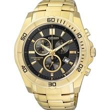 Relógio Citizen Masculino Cronógrafo Dourado Preto AN7102-54E