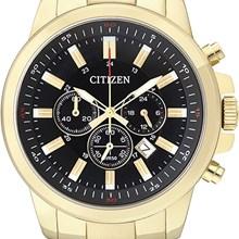 Relógio Citizen Masculino Cronógrafo Dourado Preto AN8082-54E