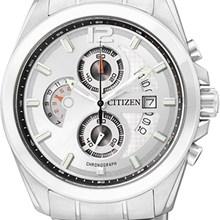 Relógio Citizen Masculino Cronógrafo Prata Branco AN3420-51A