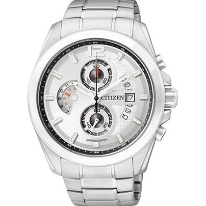 f5b94c25e39 Relógio Citizen Masculino Cronógrafo Prata Branco AN3420-51A - My Time