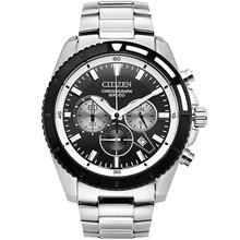 Relógio Citizen Masculino Cronógrafo Prata Preto AN8011-52E