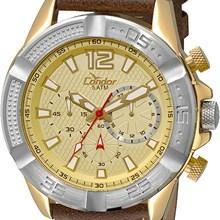 Relógio Condor Masculino Cronógrafo Couro Marrom COVD54AJ/2X