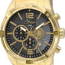 Relógio Condor Masculino Cronógrafo Dourado Preto COVD33AH/4P