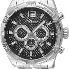 Relógio Condor Masculino Cronógrafo Prata Preto COVD33AJ/3P
