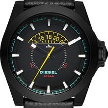 Relógio Diesel Arges Masculino Couro Preto DZ1691