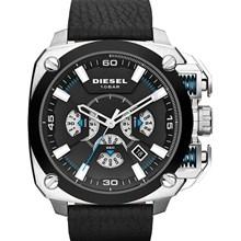 Relógio Diesel Bamf Masculino Cronógrafo Couro Preto DZ7345