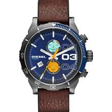 Relógio Diesel Double Down Masculino Cronógrafo Couro Azul DZ4350