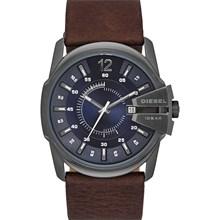 Relógio Diesel Goose Masculino Couro Marrom Azul DZ1618