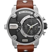 Relógio Diesel Little Daddy Masculino Prata Marrom DZ7264