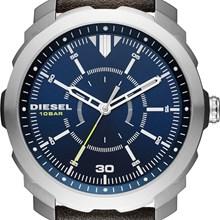 Relógio Diesel Machines Masculino Couro Marrom Azul DZ1787