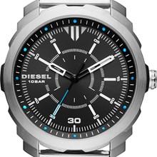 Relógio Diesel Machines Masculino Prata Preto DZ1786